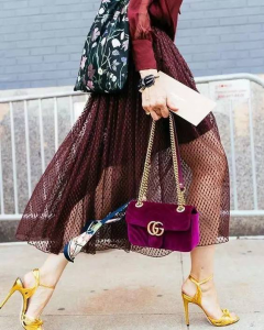 8545d93430b9 The most classic is Gucci GG Marmont matelassé bag. The shoulder bag has a  softly structured shape and an oversized flap closure with Double G  hardware.