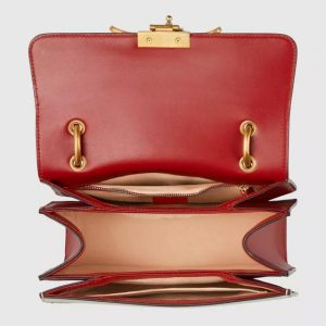 acd79ca99550 Gucci Queen Margaret Medium Shoulder Bag SIZE: 10.5″W x 7″H x 3.5″D Made in  Beige/ebony GG Supreme canvas with red leather trim, the Queen Margaret GG  ...