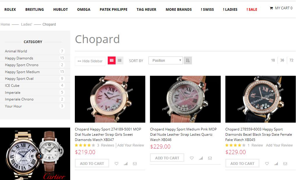 chopard replica womens watches sale