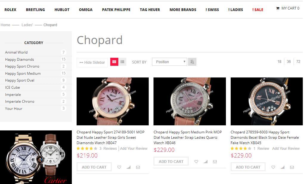 chopard replica womens watches sale