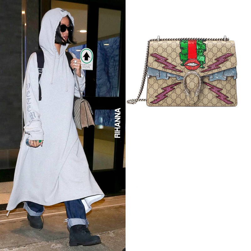 3d8e5736fbe Rihanna And Her Gucci Bags – Best Selling Gucci Bag Review